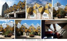 Кубические дома в Роттердаме, Нидерланды.