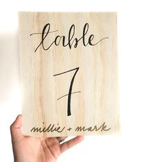 I LOVED making these table numbers for my friend's engagement!! Tag a friend getting married :) to purchase these from my ETSY store just follow the link in my bio! Xo