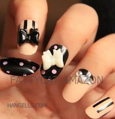Best Seller FASHION JAPANESE 3D NAIL ART CUTIE CREAMY PEARL 24 nails Sold By FATTYCAT,