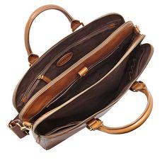 Fossil Mercer Double Zip Workbag, MBG9063| FOSSIL® Bags