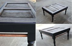Table made from an old door! Very pretty!