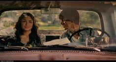 Gaby in Troy's truck