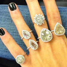 Suzanne Kalan-Throwing it back to these Diamond Slice One of a Kinds