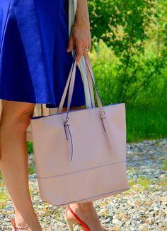 fashionmyloveitaly.com Aretas Outfits - Italian Fashion Blogger - Rose and Blue Tote Bag - Spring Summer 2015
