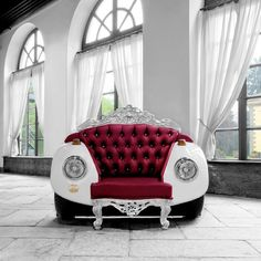 Designed by Zac Glamour Design. #art #chair #vw #beetle #bug #couch #furniture #luxury #lavish #classy #design #style