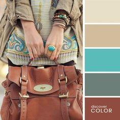 Discover Color isimli renklerin uyumuyla ilgili görseller paylaşan bir site, 17 farklı kombin ve bu kombinlerde kullanılan farklı renk paletlerini ziyaretç