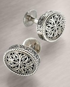 M8372 Konstantino Carved Cuff Links