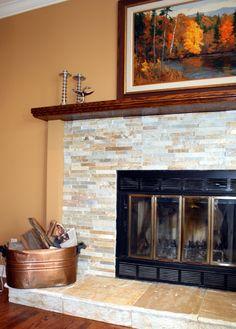Fire Place In Culture Stone/ Casa Viva Interiors