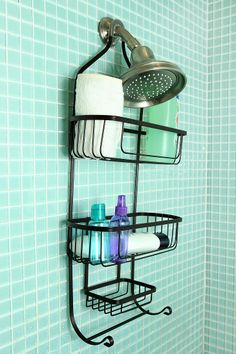 Industrial Wire Shower Caddy #UrbanOutfitters $24.00