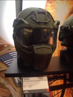 Ops Core Sentry Helmet with Moto Mandible and Moto Visor