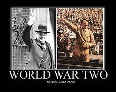 ha ha yea that's how we won. I love history