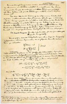 Einstein's Relativity Manuscript (extract)