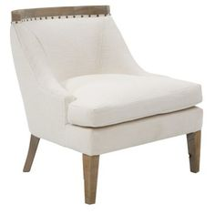 Check out this item at One Kings Lane! Sarah Linen Accent Chair, White