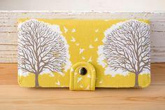 Handmade Wallet  Tree Prints Wallet  Vegan Wallet / by cottonpurr, $50.00