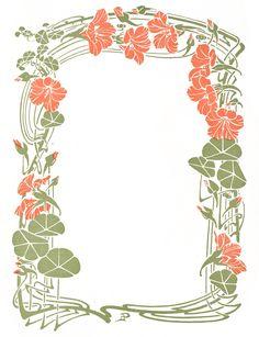 Vintage Art Nouveau Decorative Floral Frame