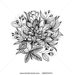 Image Result For Pen And Ink Flowers