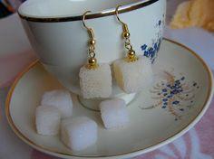 Camelia Minişan: Fimo:Polimer clay sugar cube earrings :))) - SWEET!!!