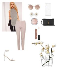 """""""casual"""" by jennifermendoza10 on Polyvore featuring Missguided, Topshop, Gianvito Rossi, MANGO, Yves Saint Laurent, Anastasia Beverly Hills and iittala"""