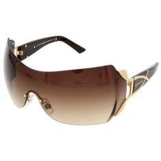 6f45ad1a435 Swarovski Brown Mask Shield Sunglasses