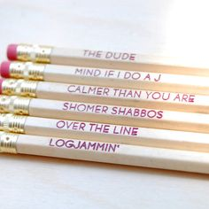 The Big Lebowski Pencil Set - $6 These are awesome.