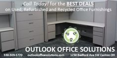 Create a new look for your business today by using quality used, refurbished or recycled office furniture. Used Office Furniture, Furniture Outlet, Filing Cabinet, Locker Storage, Recycling, Create, Business, Home Decor, Decoration Home