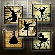 Ballet  Digital Collage Sheets CG498  15x15 inch by CobraGraphics, $3.90