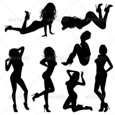 Sexy Girl #GraphicRiver Silhouettes Sexy Girl in various Poses, isolated on white background, vector illustration. Each silhouette – this is one Compound Path. You can easily change the color of the silhouette. The archive contains version EPS8 and JPG in high resolution. Created: 29November12 GraphicsFilesIncluded: JPGImage #VectorEPS Layered: Yes MinimumAdobeCSVersion: CS Tags: adult #background #beautiful #body #breast #collection #desire #fashion #female #figure #girl #girlsilhouette…