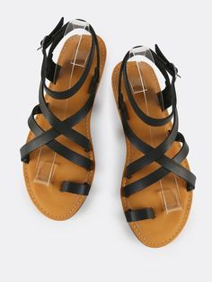 Shop Faux Leather Ankle Wrap Sandals BLACK online. SheIn offers Faux Leather Ankle Wrap Sandals BLACK & more to fit your fashionable needs.