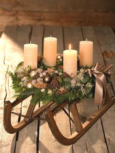 Newest Absolutely Free christmas Advent Wreath Style Many chapels host a great Advent-wreath-making occasion in the first On the of the season. Centerpiece Christmas, Rose Gold Christmas Decorations, Christmas Advent Wreath, Christmas Candles, Candle Decorations, Farmhouse Christmas Decor, Rustic Christmas, Christmas Diy, Xmas