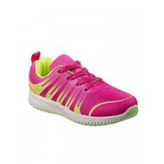 Josmo Girls Fuchsia Lime Lace-Up Comfort Sole Fashion Sneakers Kids