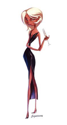 Mirage - The incredibles Incredibles Costume, Disney Incredibles, The Incredibles 2004, Character Design Tips, Character Design Animation, Character Design Inspiration, Disney And Dreamworks, Disney Pixar, Pixar Characters