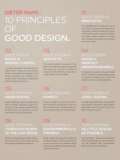 DIETER RAMS 10 PRINCIPLES OF 'GOOD DESIGN' POSTER DESIGN | UX ...