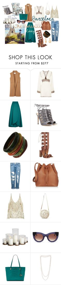 """""""Barcelona....the Boem city"""" by vivianladaa ❤ liked on Polyvore featuring Alexander Wang, Talitha, Pinko, Gianvito Rossi, Zimmermann, Frame Denim, Sophie Hulme, Calypso St. Barth, Aranáz and Thierry Lasry"""