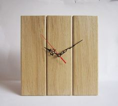 Items similar to Wall clock, wall wooden clock, wall oak clock on Etsy Clock Wall, Desk Clock, Pallet Clock, Clock Shop, Wood Clocks, Handmade Wooden, Valentine Gifts, Wood Projects, Sweet Home