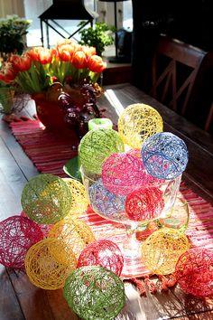 trådpyssel_påskpyssla_trådägg Crafts For Girls, Crafts To Make, String Crafts, Classroom Crafts, Egg Art, Nature Crafts, Craft Sale, Creative Kids, Valentines Diy