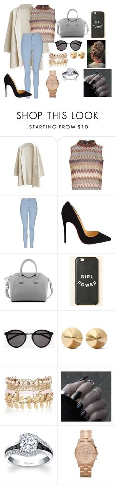 """""""Untitled #72"""" by thats0jai on Polyvore featuring Glamorous, Topshop, Christian Louboutin, Givenchy, Yves Saint Laurent, Eddie Borgo, River Island, Marc by Marc Jacobs, women's clothing and women"""