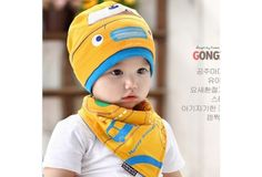 Two sets #Car pattern hat and triangle towel #Children's cotton hat# 6-36 month old baby $16 USD #wish #onlineshopping #shoppingmadefun #fashion #gift #creativeliving #householdgoods #homedecor #home