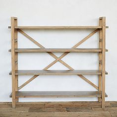 Check out Reclaimed Pine Crossback Shelf from Terrain Pine Furniture, Furniture Decor, Furniture Stores, Pallet Furniture, Vases, Display Shelves, Shelving, Diy Storage Shelves, Pallet Shelves