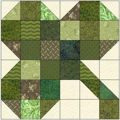 sew block quilt Name: 'Quilting : Three Leaf Clover Quilt Block Pattern - Barn Quilt Patterns, Pattern Blocks, Patchwork Patterns, Patchwork Fabric, Small Quilts, Mini Quilts, Quilting Projects, Quilting Designs, Quilting Tutorials