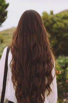 Wavy, dark oak, and long hair, Beautiful!