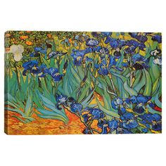 Bring gallery-worthy style to your decor with this lovely canvas print, depicting a reproduction of Vincent van Gogh's Irises.