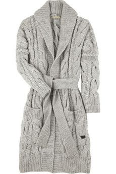 Burberry - cable knit cardi