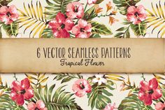 Check out seamless tropical patterns Vol.1 by Graphic Box on Creative Market