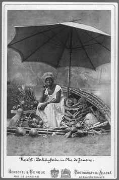 Woman fruitseller in Rio de Janeiro (ca. 1870), by German-Brazilian photographer Alberto Henschel.