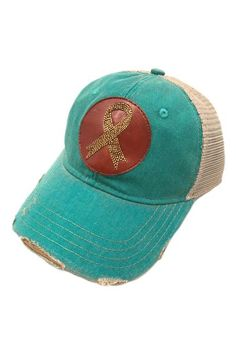 Judith march beaded leather ribbon patch - jade hat 642f606496dc