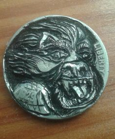 Hobo Nickel Coin Art Real Hand Carved Original | Antique jewelry