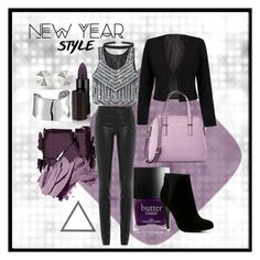 """New Year Style"" by tinselwear on Polyvore featuring GUiSHEM, Surratt, Bobbi Brown Cosmetics, Helmut Lang, Humble Chic, Serge Lutens, Rebecca Minkoff, WithChic, Lord & Taylor and Kate Spade"