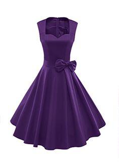 Luouse Vintage années 50 's Style Audrey HepburnRockabilly Swing, Robe de soirée cocktail