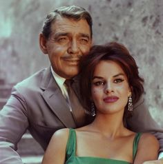 Antonella Luald & Clark Gable.