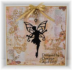 Faerie Spellbinder die used for this card; background papers from Prima Marketing.